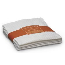 Waffle Weave Wash Cloth White - Set of Two