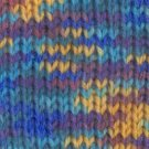 Nova Sock Print #304 blue/yellow/purple sock yarn 100gr