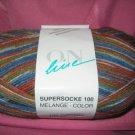 On Line Supersocke 100  sock yarn Melange #980 100gr