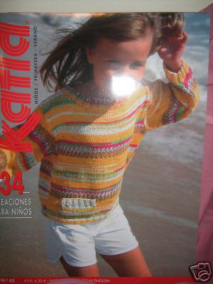 Katia 45 Spring Summer 2008 Child Knitting Pattern