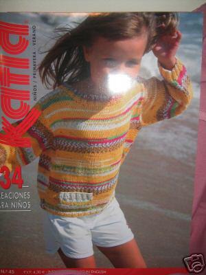 Katia #45 spring summer 2008 child knitting pattern