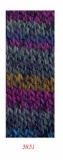 Katia Mexico #5851 wool acrylic yarn green/blue/violet