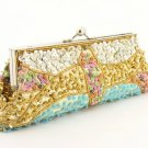 Yellow Beaded Sequined  Purse