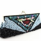 Black Beaded Sequined Purse