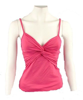 Charlotte Russe Pink Stretch Tank Top Sz Small