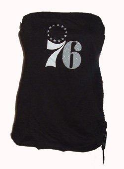 GIII Sports 76ers Black Tube Top Sz  X-Large