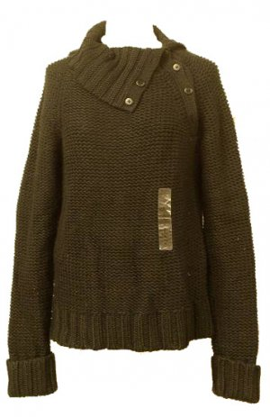Sutton Studio Black Sweater Top Sz Medium