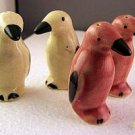 2 Pr Old MIJ Pink & White Penguin Salt & Pepper Shakers