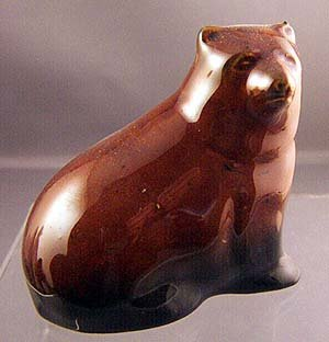 BEAUTIFUL BROWN BEAR VINTAGE PORCELAIN DEVON ENGLAND