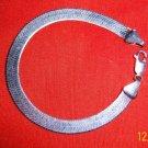 Sterling Silver Herringbone Bracelet Heavy Italy Jewelry