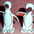 HLC HARLEQUIN PENGUIN Maverick Shakers Blue Lusterware