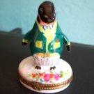 Limoges Penguin Dressed Up Trinket Box Old Mint Signed