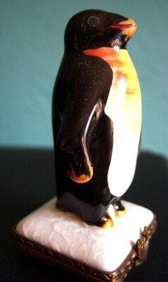 Limoges Penguin Chamart Exclusif Square Trinket Box
