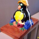 Folk Art Fishing Penguin Penquin Bookends Book Ends Vintage