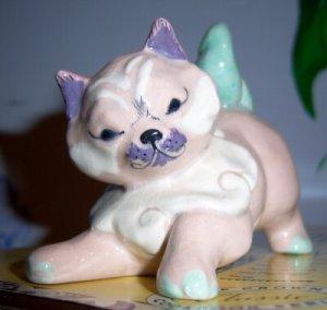 Kitty Cat Kay Finch Calif Pottery Rare Sweet Pastels
