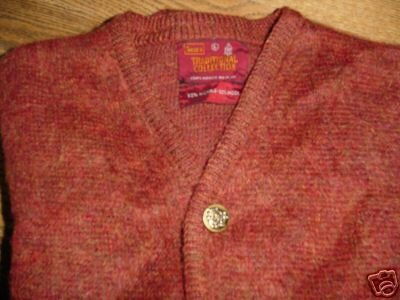 Vintage Sears Mohair Cardigan Sweater Size L rust color ~ FREE SHIPPING