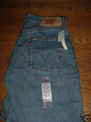 Levi's 501 button fly jeans 33 X 34 NEW w/Tags  ~ FREE SHIPPING~ $22.99