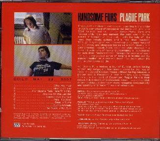 FREE S&H ~ $9.99 ~ Handsome Furs CD Plague Park from WOLF PARADE sub pop electro goth
