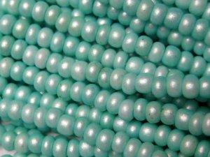 11/0 CZECH GLASS SEED BEADS SILK TURQUOISE GREEN 1 HANK