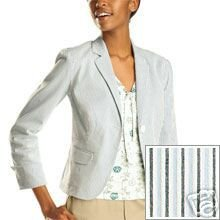 GAP Striped Compact Blazer Blue Misses  M 10