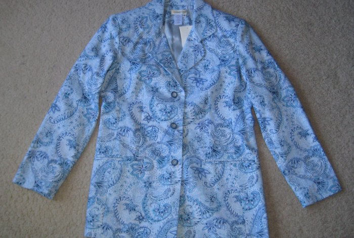 Coldwater Creek Paisley Riding Jacket Blazer Misses  8