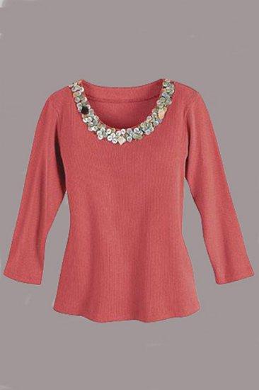 Soft Surroundings Balinese Tops Shirt Terracotta Misses S 6 8