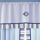 Pottery Barn Kids Pair of Chase Panels Curtains Blue Window Treatment 44 x 96