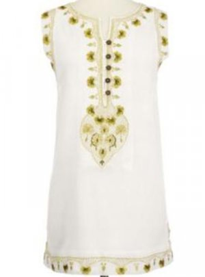 Soft Surroundings Sandwashed Tunic Tops Shirt Misses White S 6 8