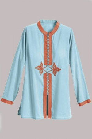 Soft Surroundings Sunset Tunic Tops Shirt Misses S 6 8