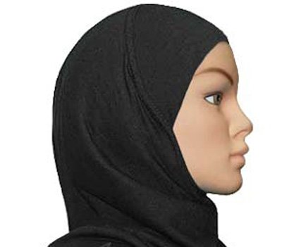 Amira Hijab 1 piece Poly Black