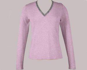 Soft Surroundings Rhinestone Silk Cashmere Sweater Misses M 10 12