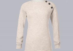 Soft Surroundings Cashmere Boatneck Sweater Misses S 6 8