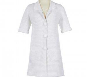 Soft Surroundings Nantucket Knit Jacket Sweater Plus Size Women 1X 18 20