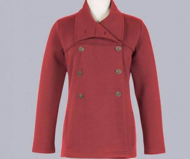 Soft Surroundings Fleecy Double Breasted Jacket Misses L 14 16