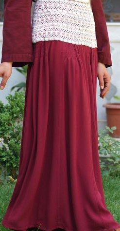 SHUKR Lace Long Skirt 39 in long Misses M 8 10