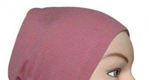 Hijab Underscarf Cap Cotton Tube Rose