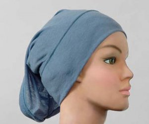 Hijab Underscarf Cap Cotton Tube Blue
