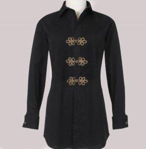 Soft Surroundings Pima Tuxedo Tops Shirt Misses S 6 8