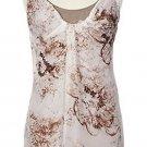 Soft Surroundings Silk Tank Top Shirt Misses L 14 16