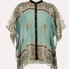 Soft Surroundings Silk Tops Shirt  Misses S M 4 6 8 10 12