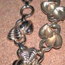 Signed TARA vintage Gold-tone costume Leaf Bracelet