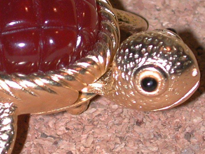 Turtle animal Pin Head Moves Vintage Signed Ellen Kiam
