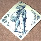 Vintage W Germany Pin brooch West German Delft drummer Design