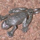 3D Figural Frog/toad sterling Silver Charm Vintage