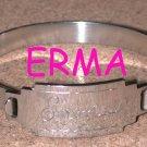 Bangle ID Bracelet ERMA silver-tone Vintage engraved name