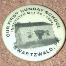 OLD Photo button PIN Sunday School Swartzwald PA 1854