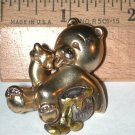 Teddy Bear eating Honey Pin  Signed Danecraft vintage