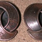 BIG Copper Clip-on Earrings Vintage