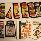 1974 Wacky Packages Series 6 LOT Sticker Trading Cards