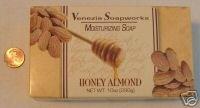 Venzia Soapworks Huge (10 oz.) Bar HONEY ALMOND Soap